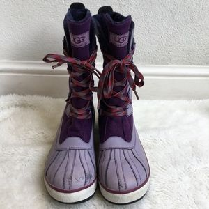 UGG 1001743 Baroness Purple Lilac Duck Boots 7